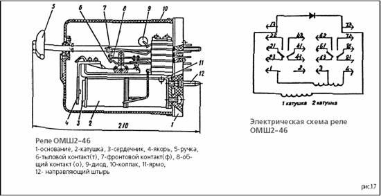 Схема реле ОМШ2-46